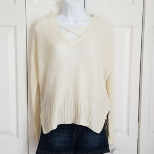 Alter'd Stat Chenille High Low Criss Cross Sweater